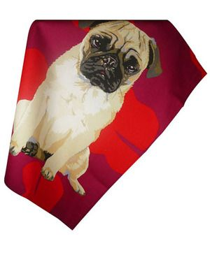 Pug T Towel 8 At Www Twowoofs Co Uk Pugs Dog Gifts Tea Towels