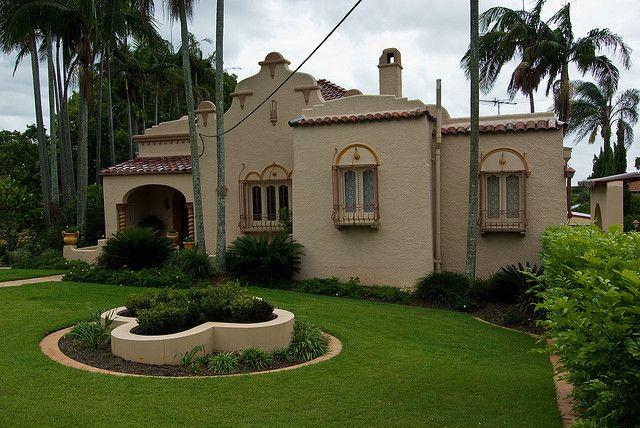 1920s Hacienda Style House In Brisbane Australia Hacienda Style Hacienda Style Homes Hacienda