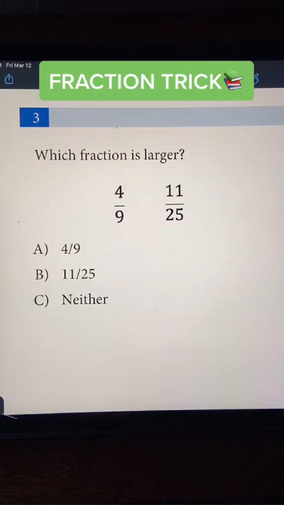 Fraction Tricks | Mathematics Tips