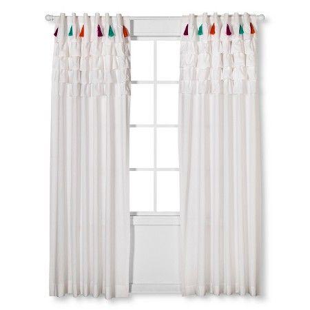 Boho Boutique Tassel Curtain Panel White 84 Quot Target