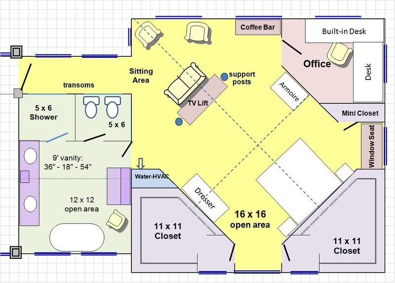 Mastersuite addition plans re master suite addition for Floor plans for home additions
