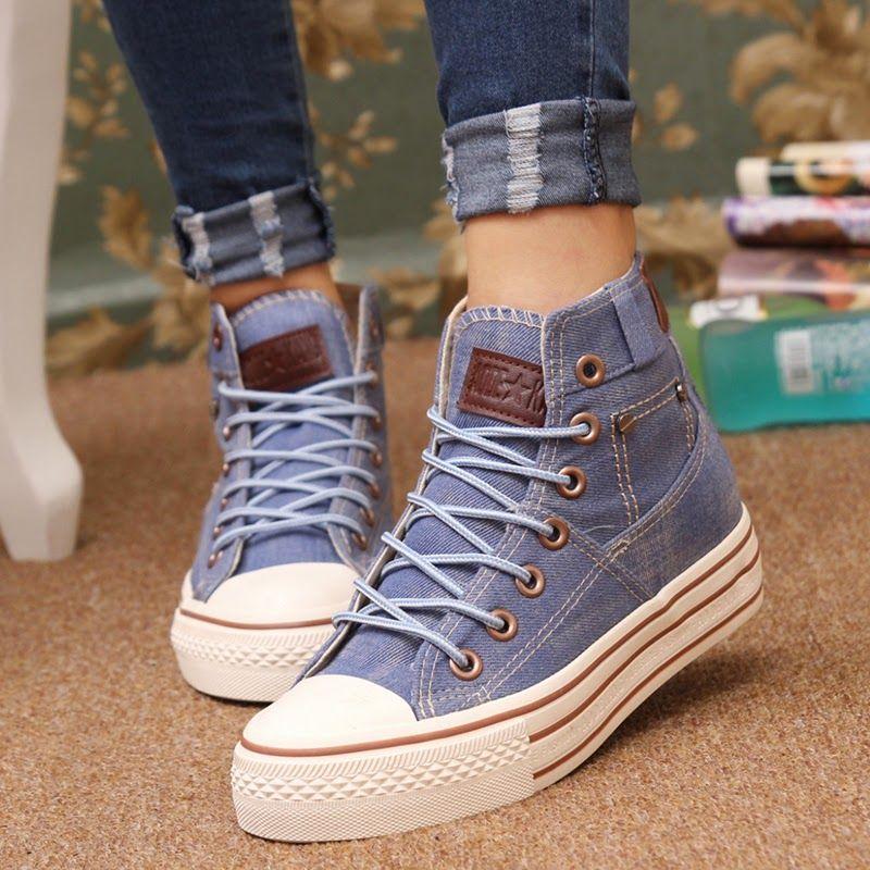 Resultado de imagen para zapatos de moda 2015 para adolescentes invierno.  Converse StyleConverse OutfitsConverse HighConverse ...