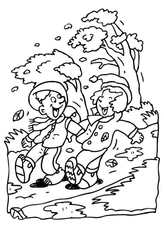 windy day | Fall coloring pages, Coloring pages, Coloring ...