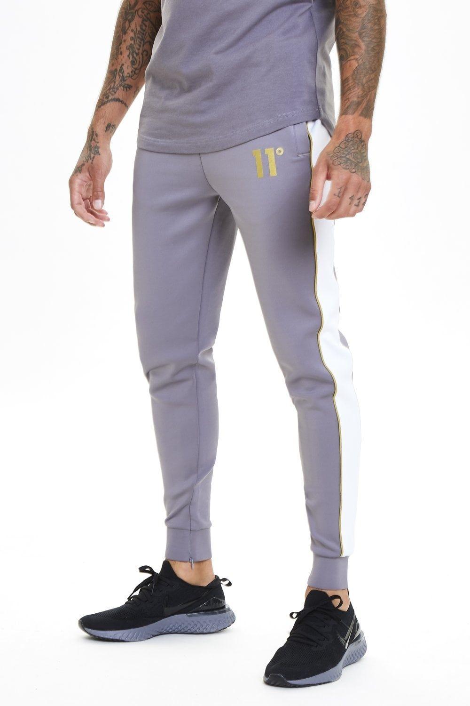 Pantalon Chandal 11 Degrees Blanco Gris Claro Oro Pantalones De Chandal Pantalones De Hombre Pantalones Vaqueros Hombre
