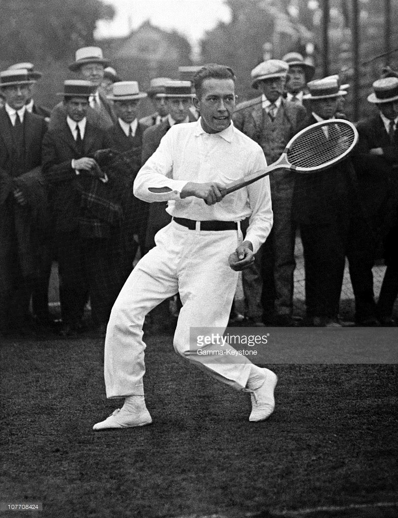 Henri Cochet Plays The U S International Championship During The