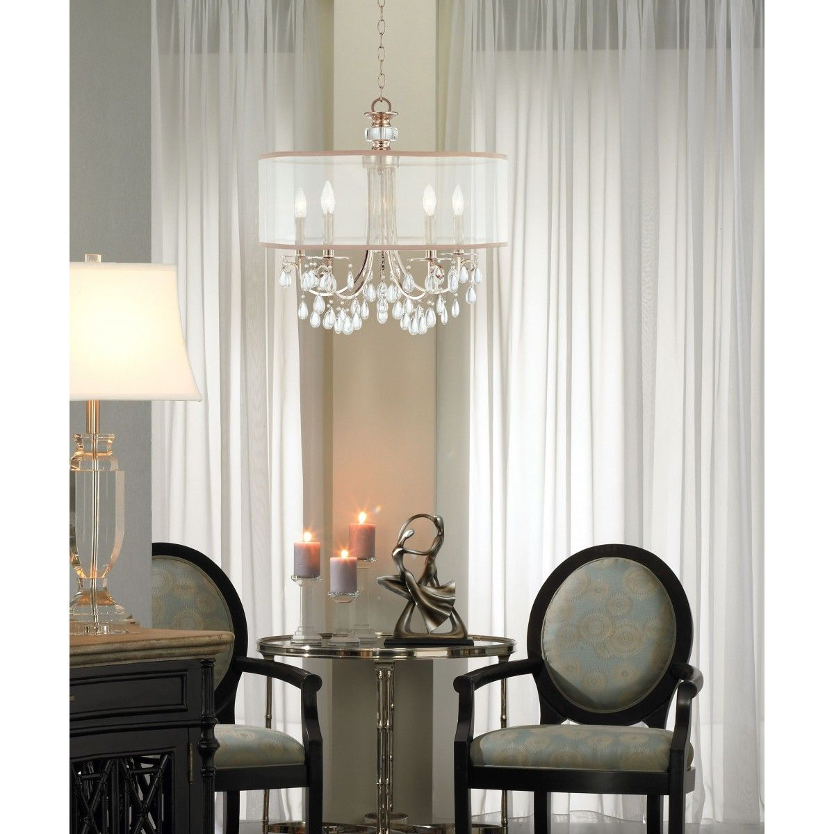 Crystorama hampton 5 light chandelier available at design lighting in surrey bc chandeliers - Sparkling small crystal chandelier designs for any interior room ...
