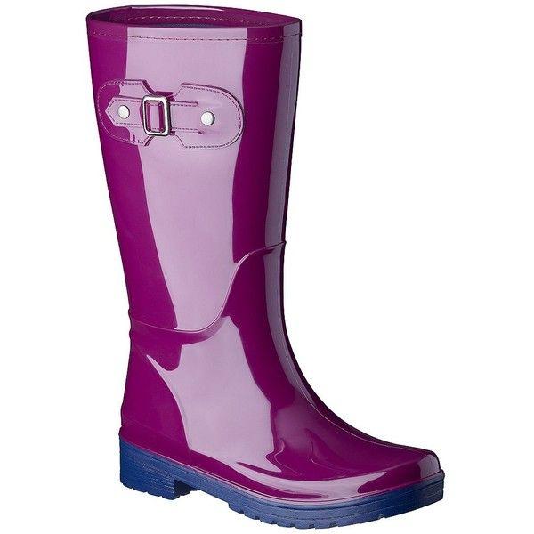 Women's Merona® Zelene Rainboot - Berry ($33) ❤ liked on Polyvore