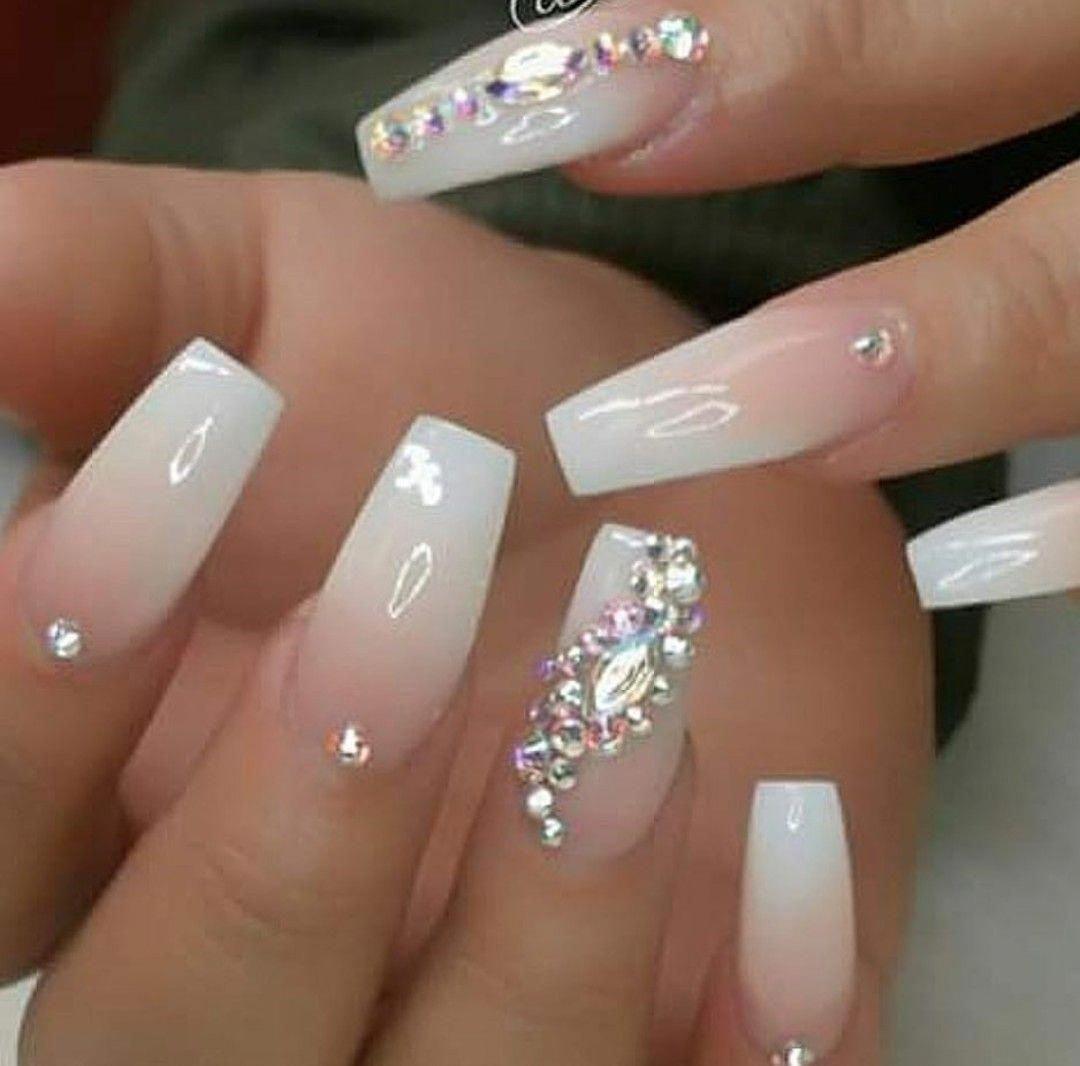 Follow on Instagram @natashajk | Coffin shape nails