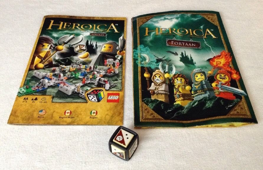 Replacement Lego Heroica Fortaan Manual Instructions Dice
