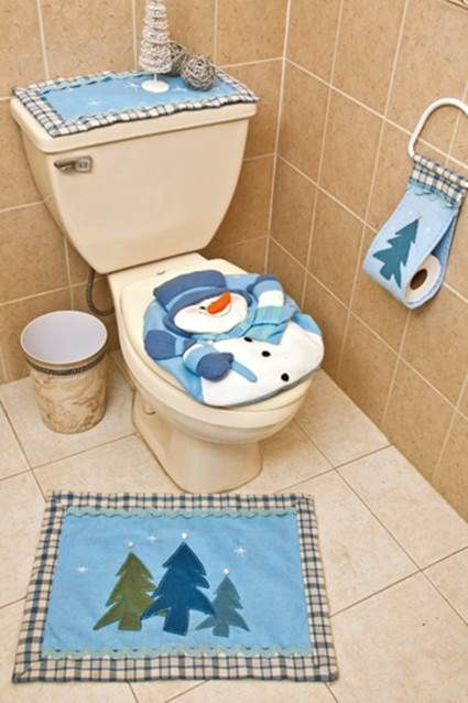 Ba os navide os navidad natal and christmas bathroom - Decoracion navidena para banos ...
