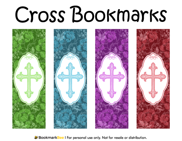 religious bookmark templates - free printable cross bookmarks with fancy crosses and