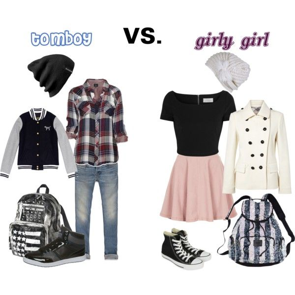 Tomboy vs. girly girl - Polyvore | clothing/shoes | Pinterest | Tomboy Girly girls and Girly