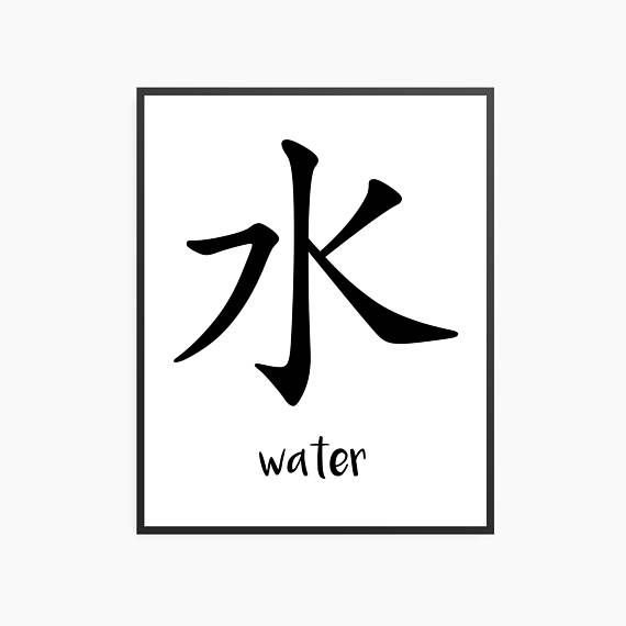 Japanese Kanji For Water Mizu This Is One Of The First Kanji I