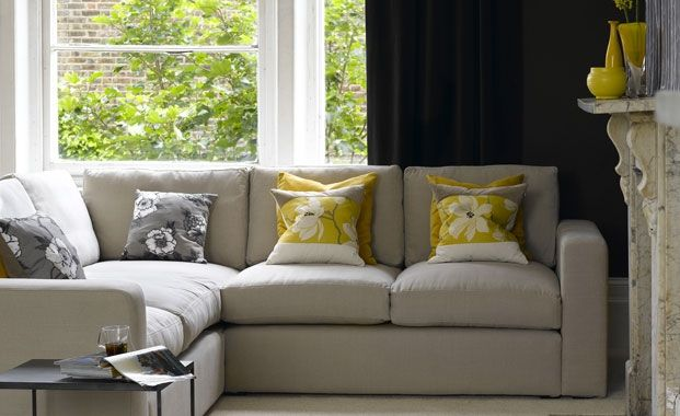 Soften monotones with dove grey. This colour grey but a richer fabric would be nice