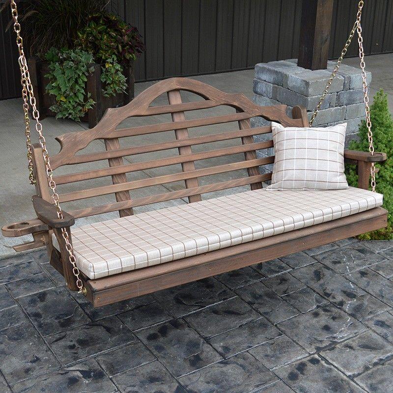 A&L Furniture Co. Marlboro Red Cedar Porch Swing In 2019