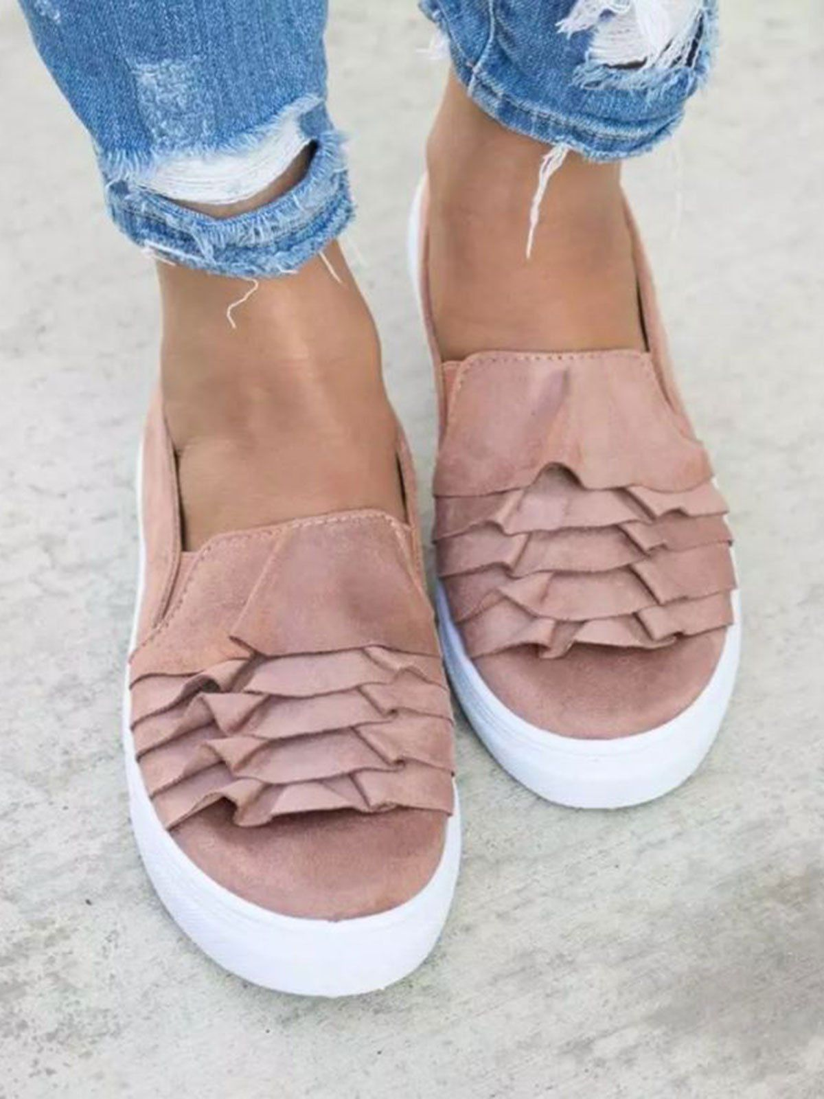 a32bf438a28 Women Plus Size Chunky Heel Booties Daily Zipper Boots. Casual Canvas  Loafers 3D Round Toe Flats Slip On Loafers – luckinbag