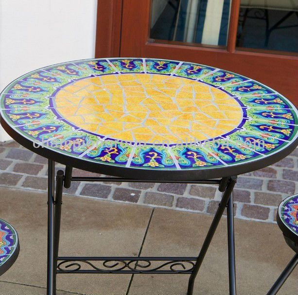 Mosaic Table Patterns,mosaic Tile Bistro Table