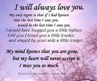 i will always love you grieving
