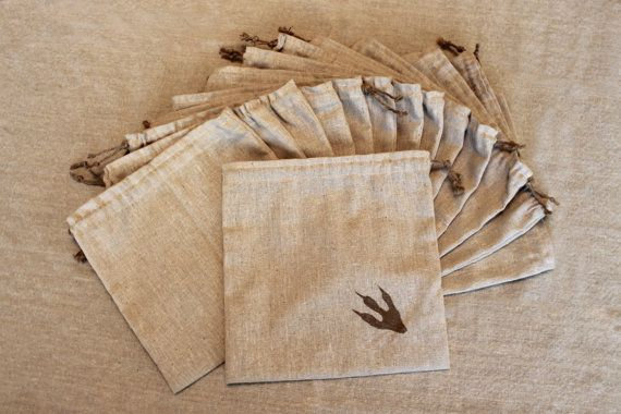Dragon Party Quest Bags - Set of 12 sturdy osnaburg bags with drawstring and dragon footprint.. $38.00, via Etsy.