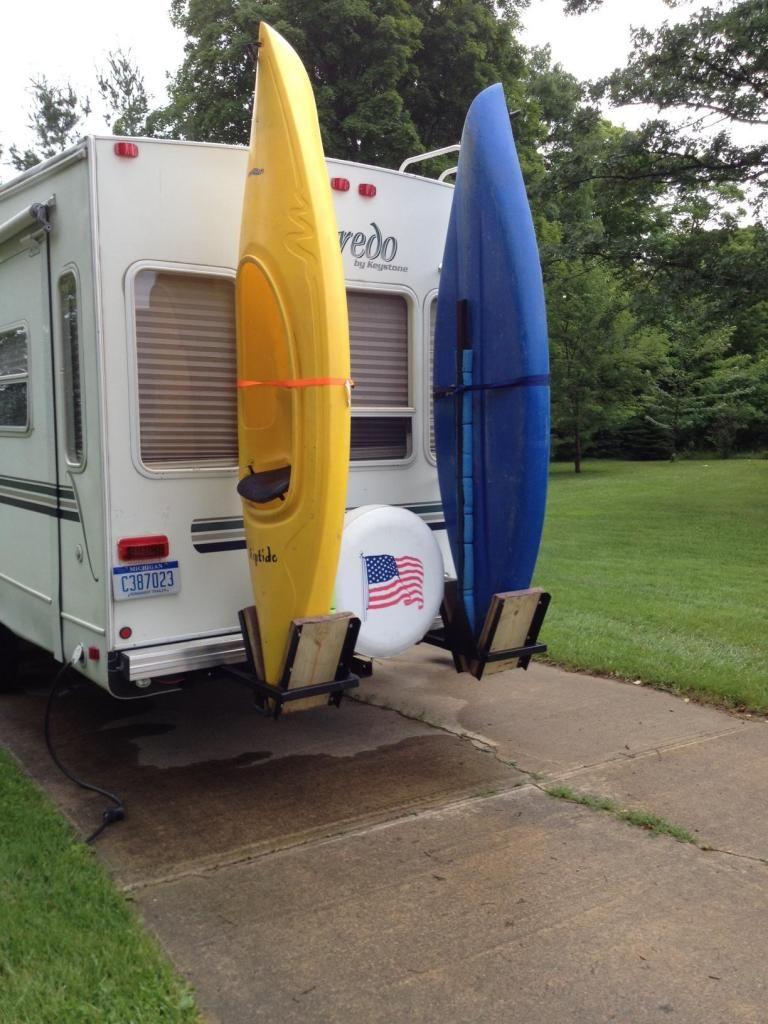 Kayak Racks For Back Of Fifth Wheel Rv Camper Storage Ideas