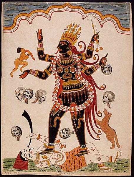 Pata Chitra Etching Print Of Kali From Orissa 1770 Diosa Kali