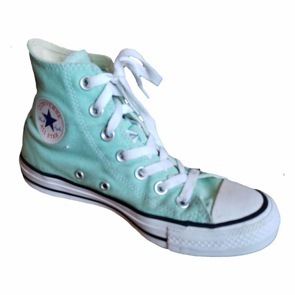 058992fd3e75 Converse Chuck Taylor High Top Light Aqua Shoes Men s 4 Women s 6  Converse   CasualShoes