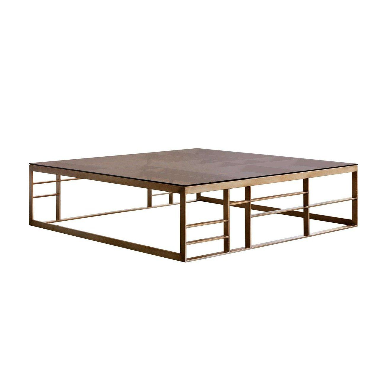Joanna Coffee Table Square Antique Brass Brown Glassdefault Title In 2021 Coffee Table Square Oversized Square Coffee Table Coffee Table [ 1300 x 1300 Pixel ]
