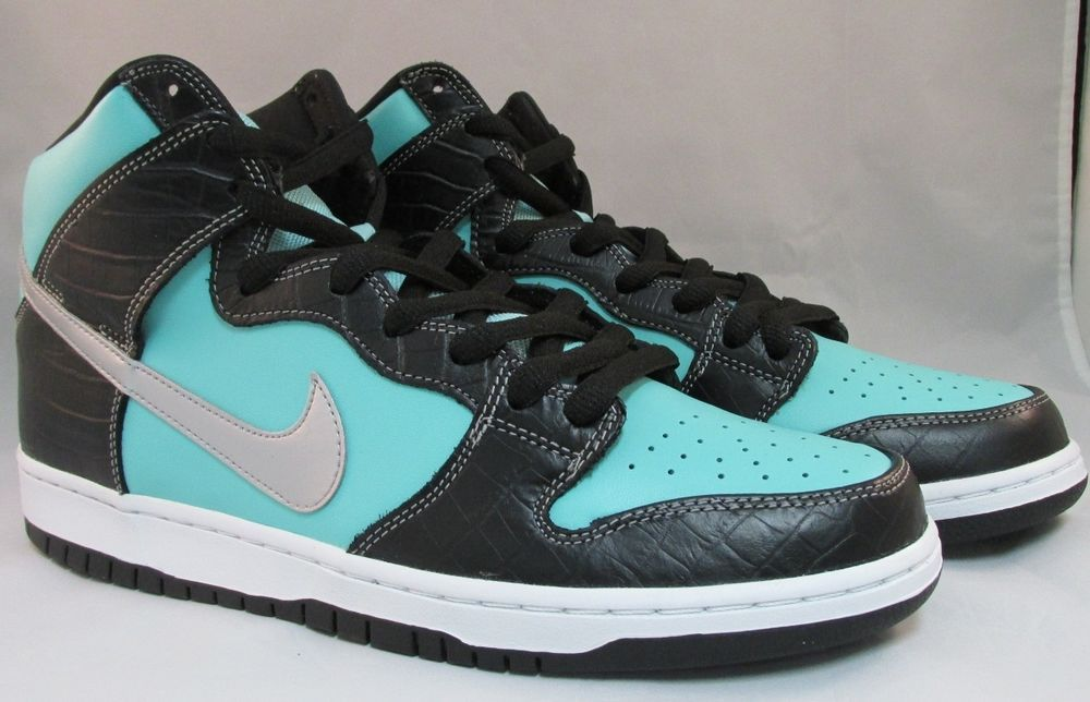 Nike Dunk High Premium SB Aqua Chrome Black Mens SZ.12  Nike   AthleticSneakers 45e2a1c88e22
