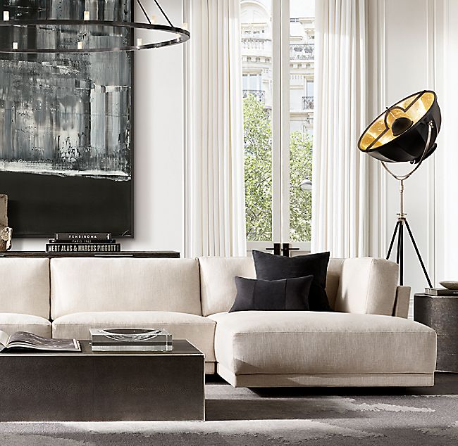 Saunderson Shagreen Cube Rectangular Coffee Table #restorationhardware