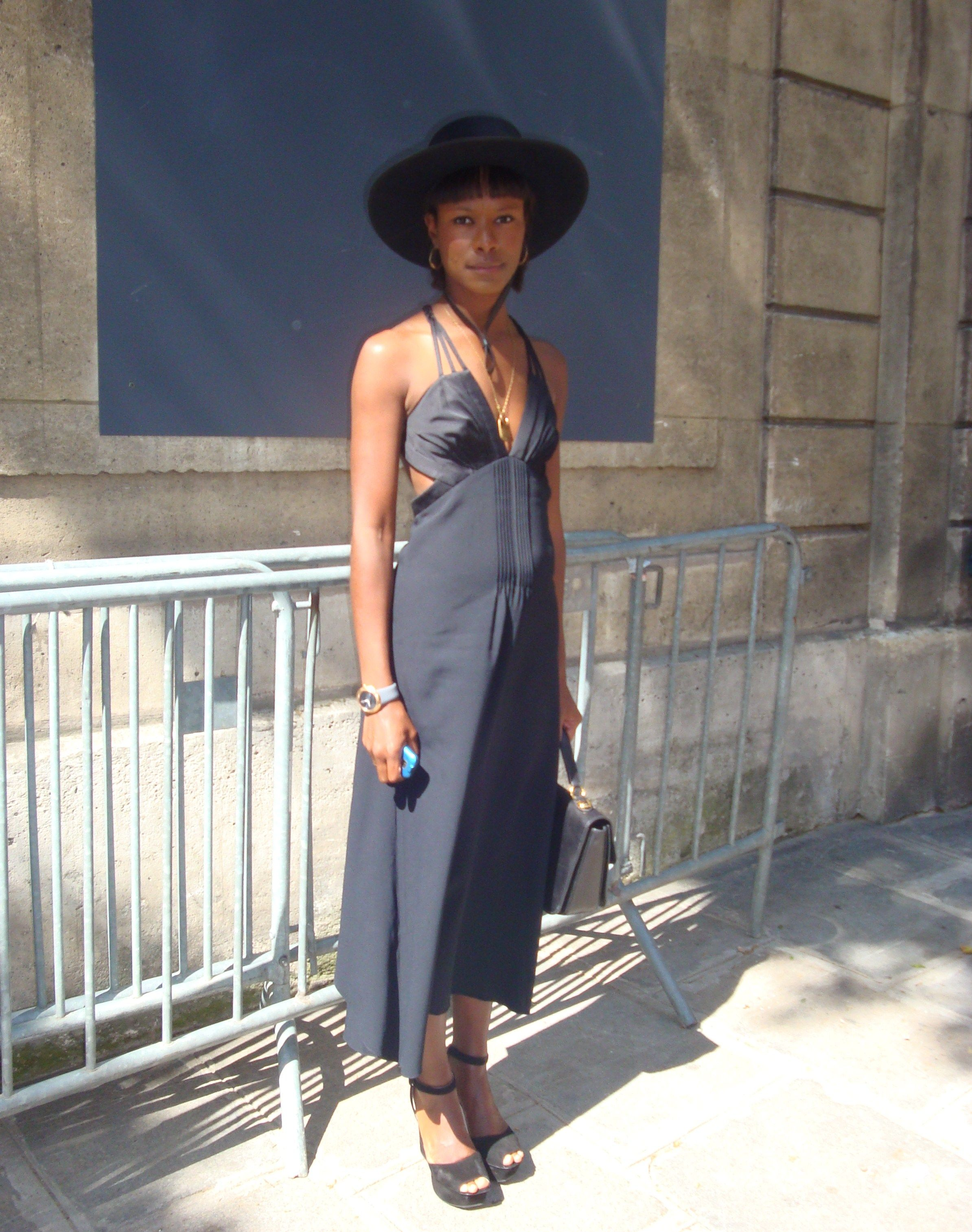 Shala Monroque after Valentino show