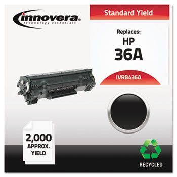 Remanufactured Cb436a (36a) Laser Toner, 2000 Yield, Black
