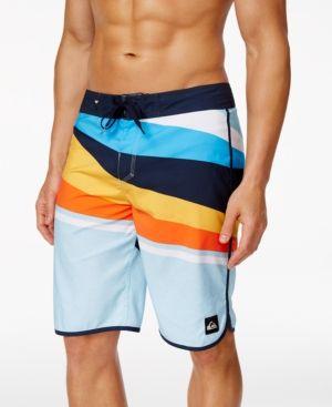 "Quiksilver Men's Slash Scallop 21"" Boardshorts - Blue 29"