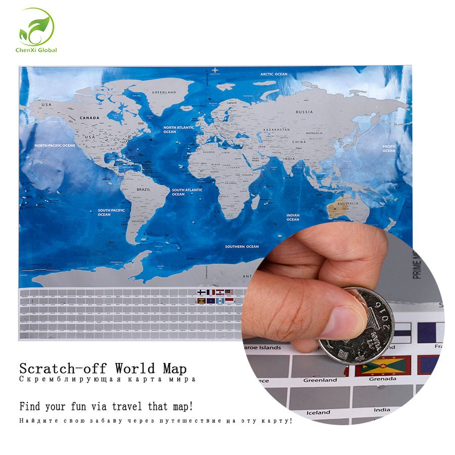 Like and share if you want this deluxe travel scratch off world map want this deluxe travel scratch off world map blue ocean retro wall sticker diy poster map with flag home decoration kids geography gift tag a friend gumiabroncs Gallery