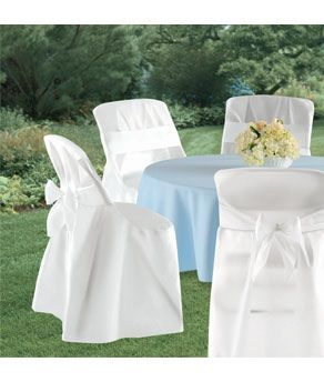 chair covers for you diy hammock folding cover with sash 4ct white bow 4 5 61 good deal if need cheaper than renting c