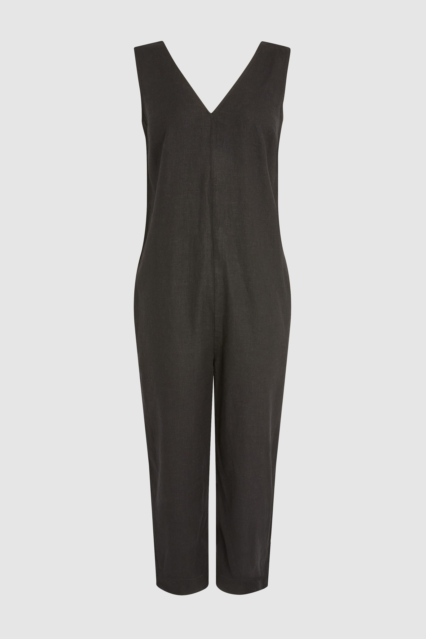 1295903a038 Womens Next Black Linen Blend Jumpsuit - Black in 2019