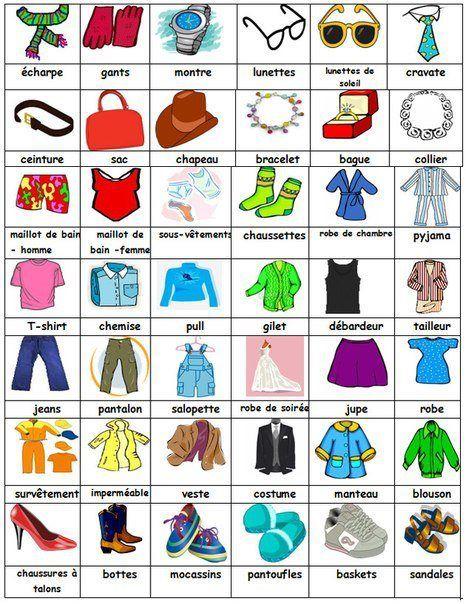 VocabulaireLa mode et vêtementsLe français les HWIYE2D9