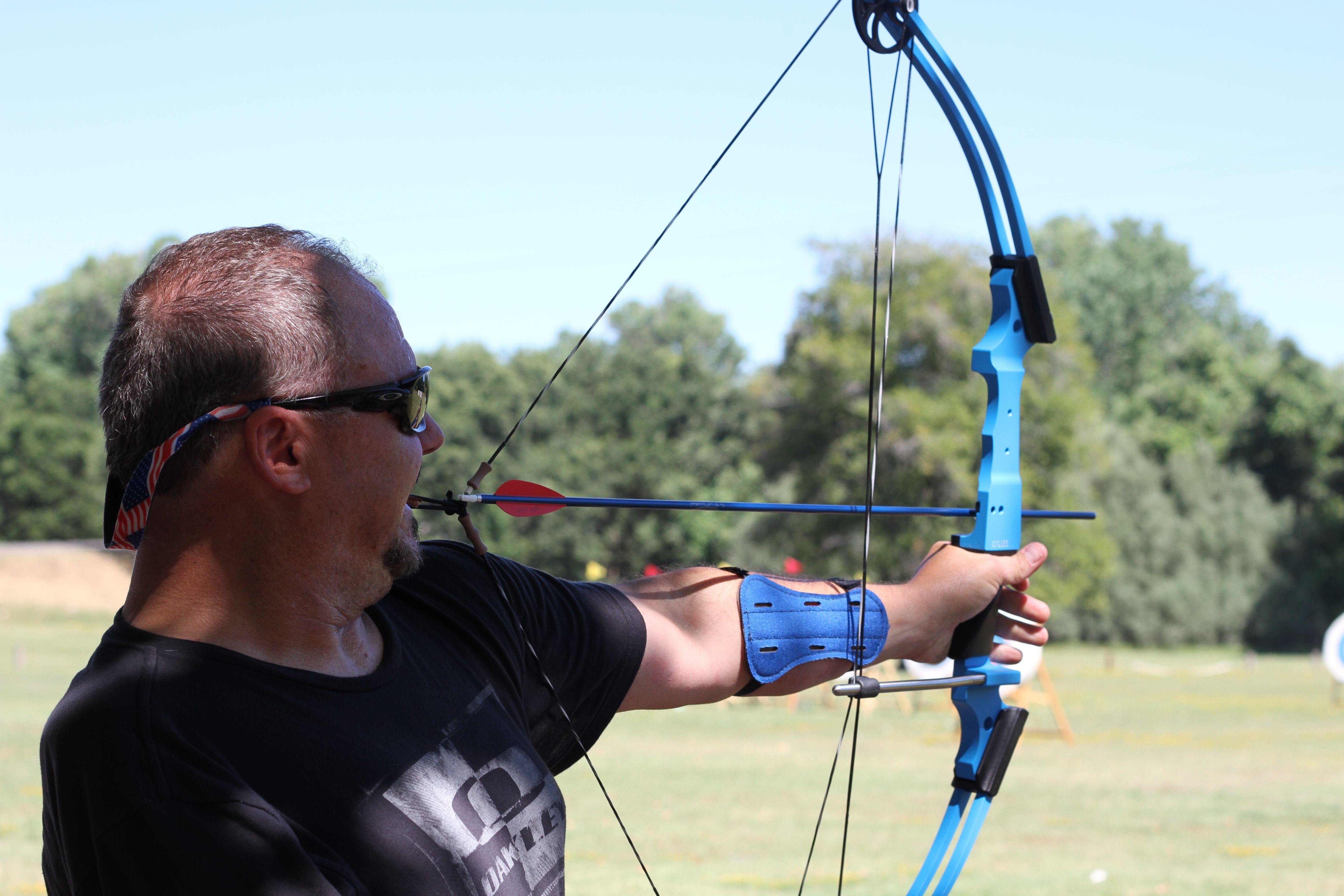 Adaptive archery at Military Summer Sport Camp. Summer