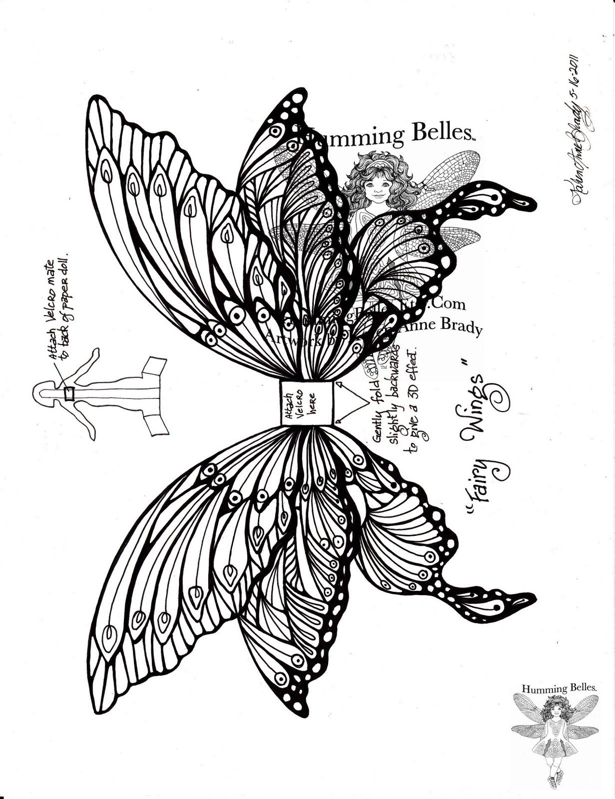 Fairy Wings Drawings One scene coloring page Fairy Garden Fairy