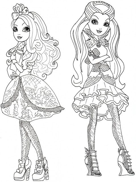 Apple White And Raven Queen Free Coloring Page Desenhos Colorir Desenhos Para Colorir