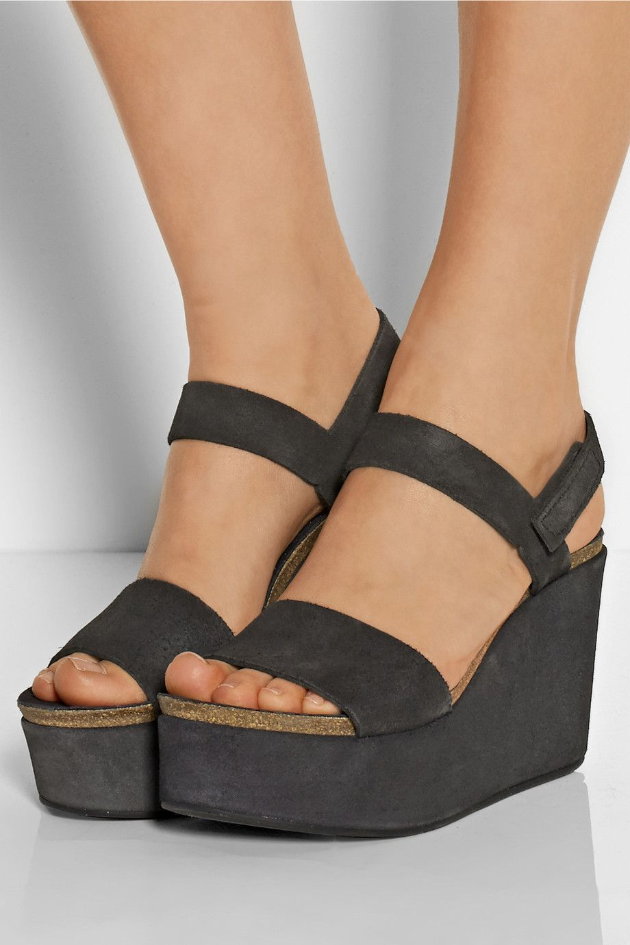 Pedro Garcia Dulce Suede Wedges