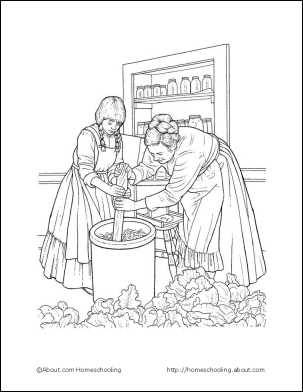 pioneer coloring pages Learn about Pioneer Life with a Free Printables Set | Adventures  pioneer coloring pages
