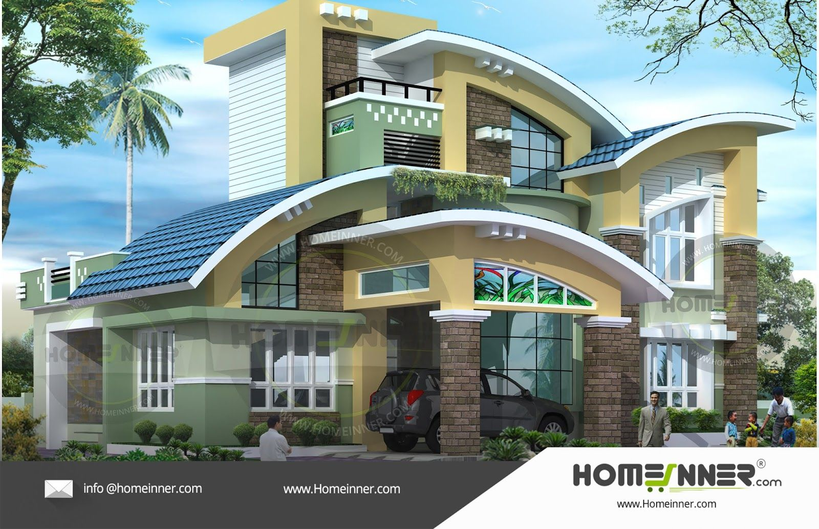 4bhk Readymade House Plan 2830 Sq Ft 4 Bedroom 4 Bath Free House Plans Architectural House Plans Contemporary House Design