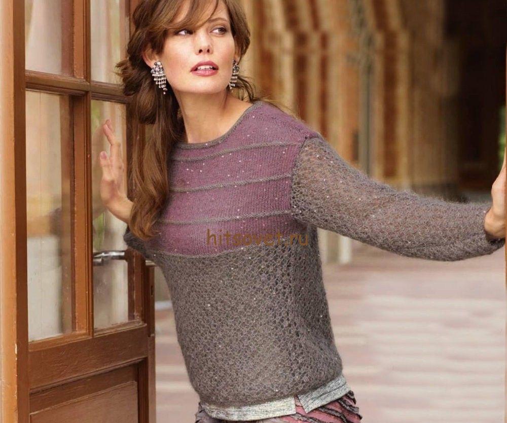 Женские свитера со схемами и описанием