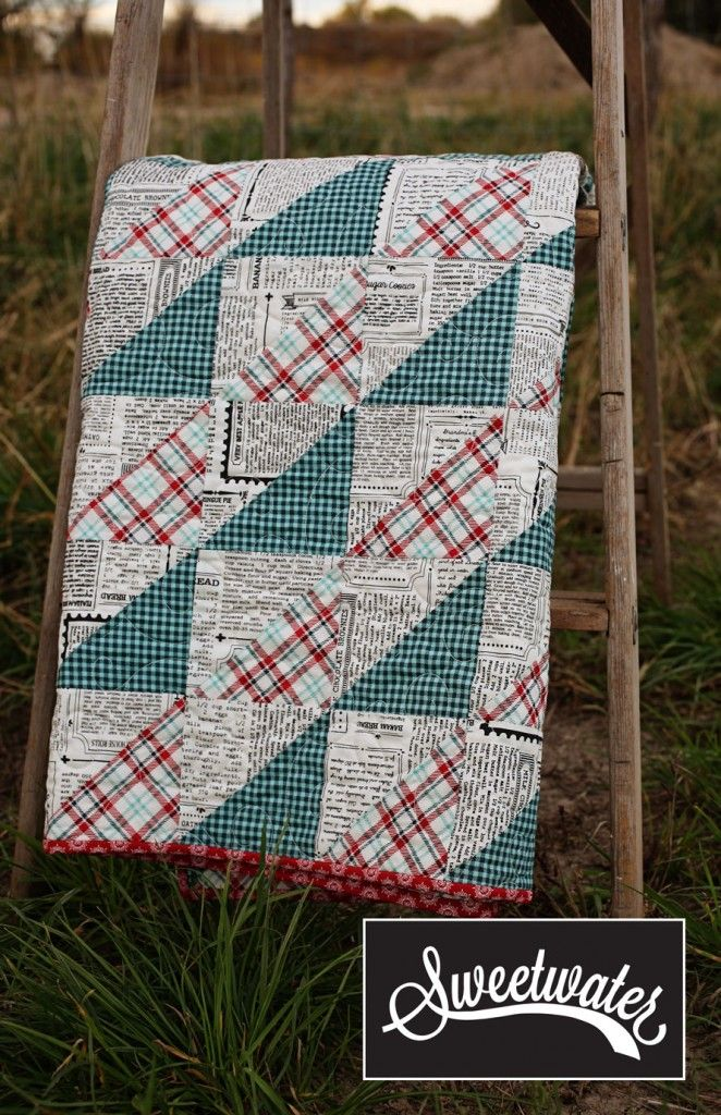 Sweetwater....I love the old pieced look of this quilt...like it was made from scraps but not.