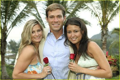 THE BACHELOR:  Andy Baldwin and winner Tessa Horst on the right (2007)