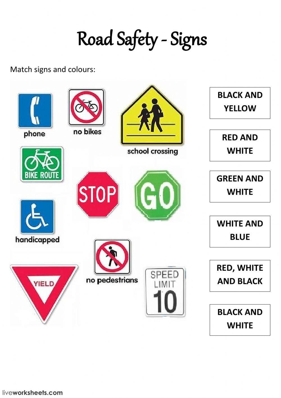 Traffic Safety Worksheets For Kindergarten