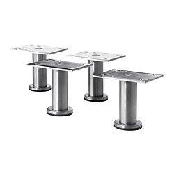 IKEA - CAPITA, Ben, rustfritt stål, , Står stødig på ujevne gulv fordi de kan justeres mellom 8 og 9 cm.