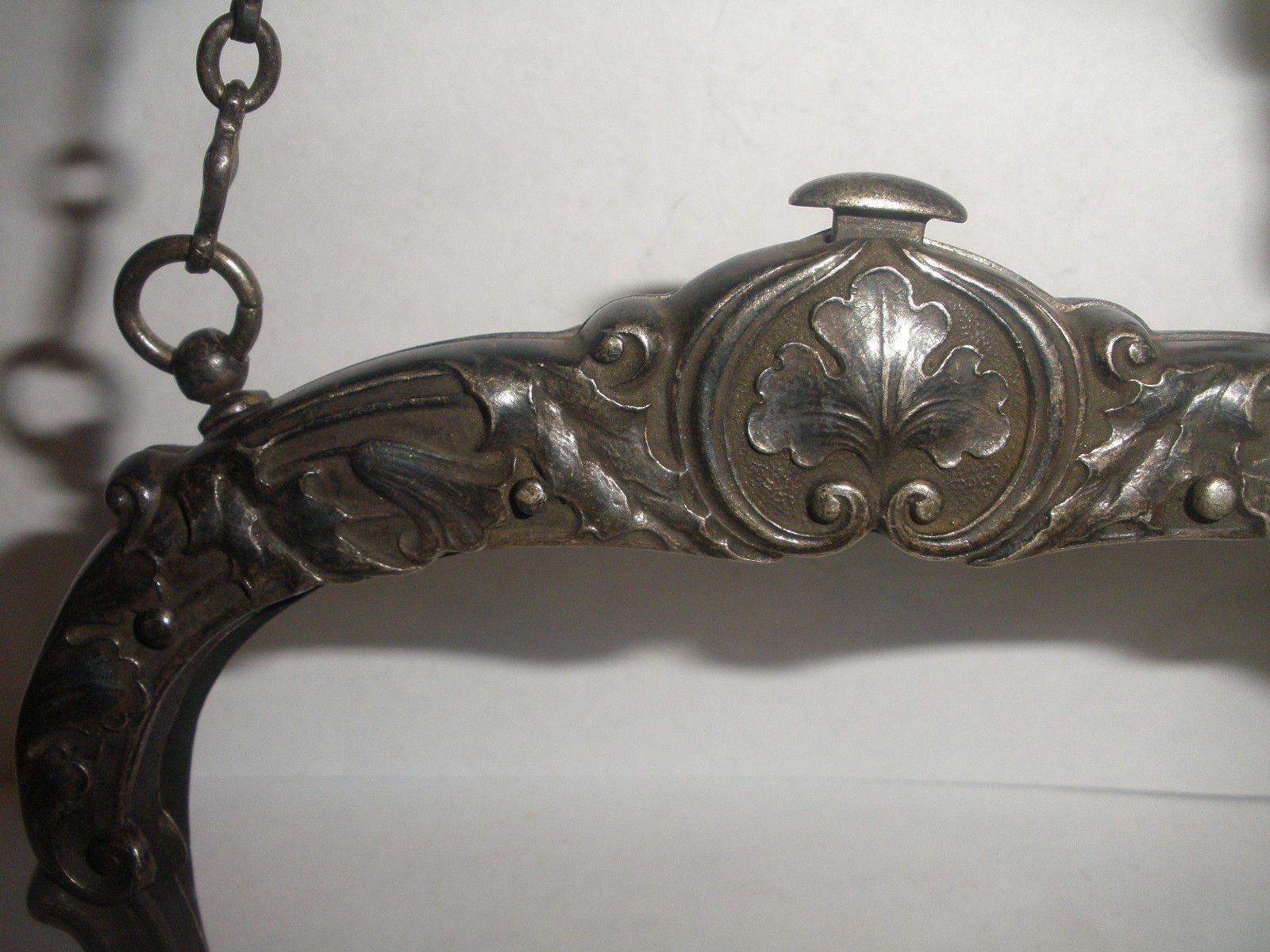 Details About Antique Gorham Sterling Silver Art Nouveau Purse Frame Chatelaine Aesthetic Silver Art Art Nouveau Chatelaine