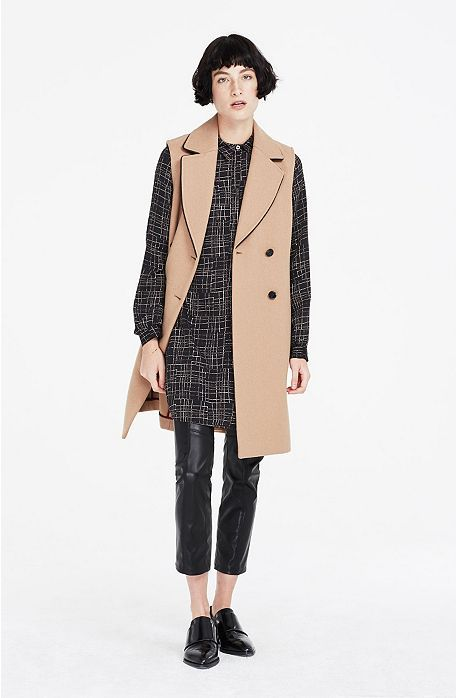Sleeveless Wool Coat - New Collection - Womens New Collection - Armani Exchange