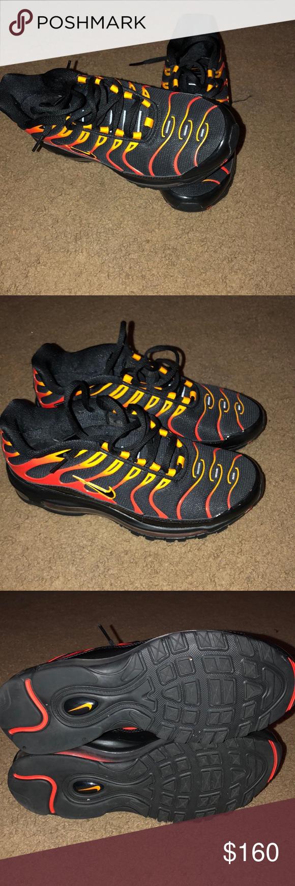 4283e7e591 NIKE air max plus Nike Air Max Plus - Mens Shoes Black/Pimento/Bright